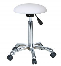 STOOL- WHITE (DOME SEAT) D32cm (H60-80cm)